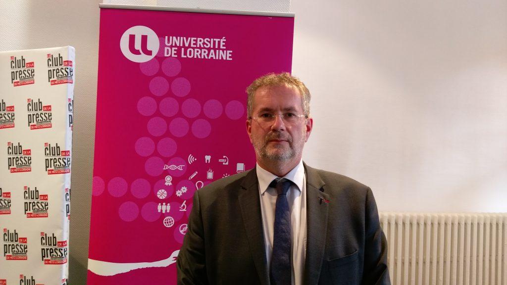 Pierre Mutzenhardt à la conférence de presse de rentrée de l'Université de Lorraine