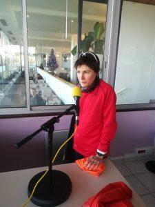 Perrine Rosala au micro de Radio Campus Lorraine